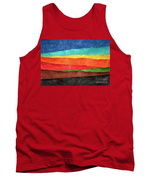 Abstract Landscape Created With Handmade Paper Tank Top