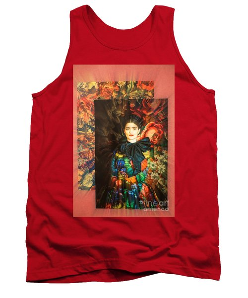 Artistic Frida Kahlo Stream  Tank Top