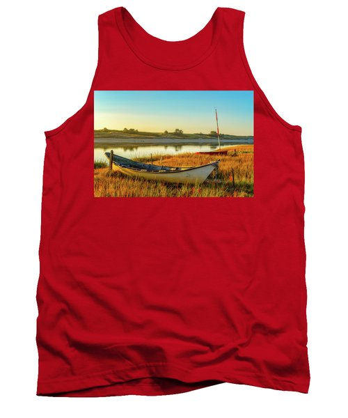 Boats In The Marsh Grass, Ogunquit River Tank Top