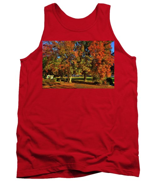 Tank Top featuring the photograph Autumn In Reaney Park by David Patterson