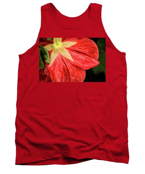 Back Of Red Flower Tank Top