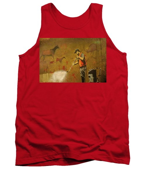 Banksy's Cave Painting Cleaner Tank Top