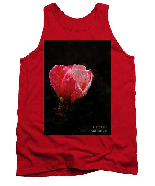 Beautiful Wet Rose Tank Top