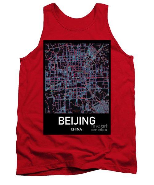 Beijing City Map Tank Top