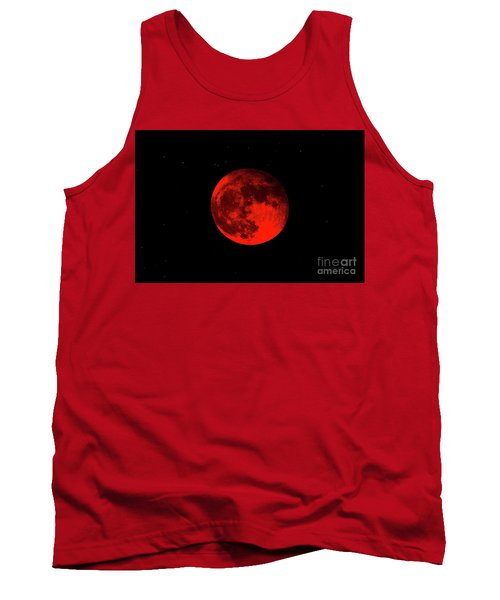 Blood Red Wolf Supermoon Eclipse 873a Tank Top