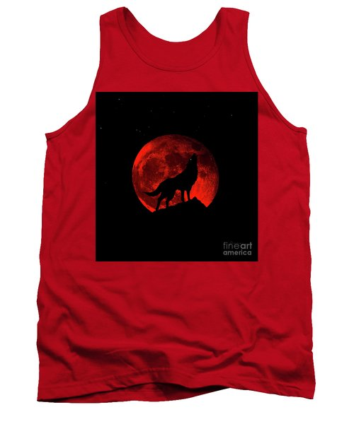 Blood Red Wolf Supermoon Eclipse 873l Tank Top