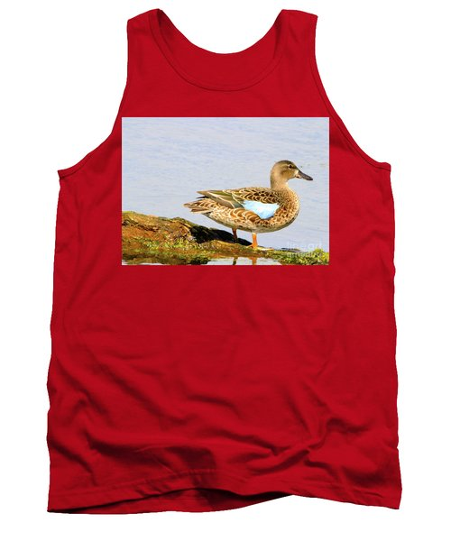 Blue-winged Teal Female Duck Tank Top