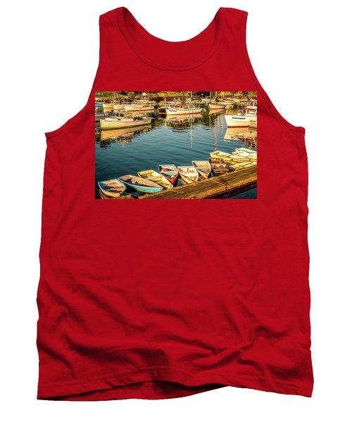Boats In The Cove. Perkins Cove, Maine Tank Top