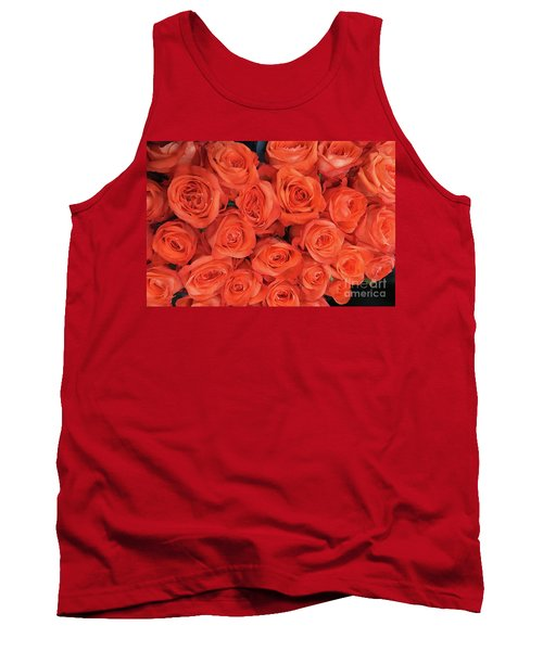 Bouquet Of The  Living Coral Roses Tank Top