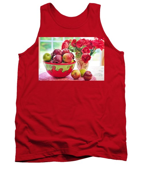 Bowl Of Red Apples Tank Top