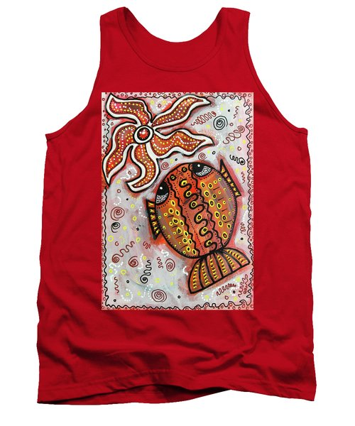 Brother Fish And Sister Starfish In Deep Conversation Tank Top