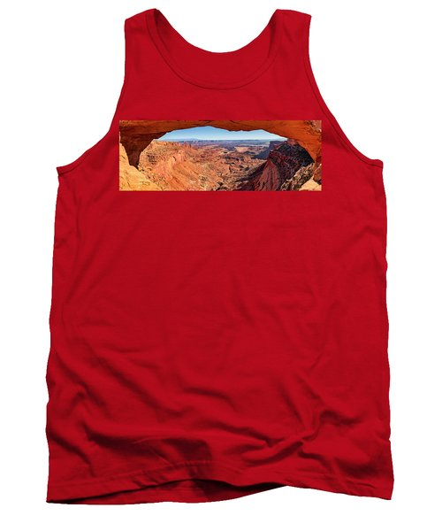 Tank Top featuring the photograph Buck Canyon Through Mesa Arch by Andy Crawford