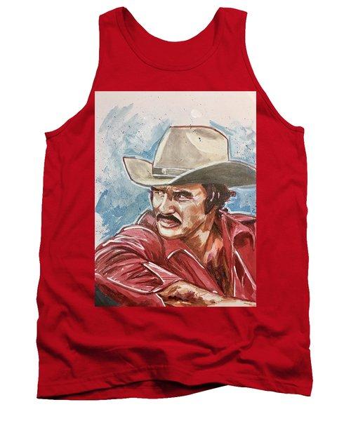 Tank Top featuring the painting Burt Reynolds by Joel Tesch