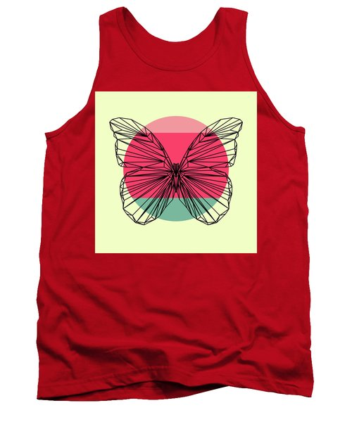 Butterfly And Sunset Tank Top