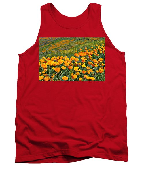 California Golden Poppies And Goldfields Tank Top