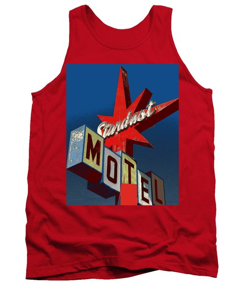 California Motel Sign, 1950 Style - Photo Art Illustration Tank Top