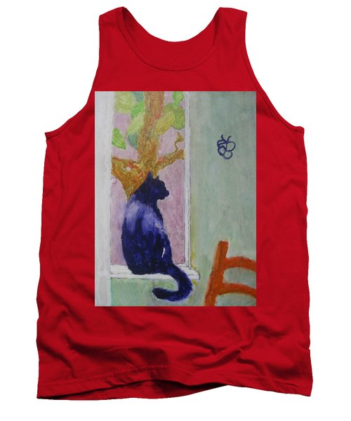 cat named Seamus Tank Top