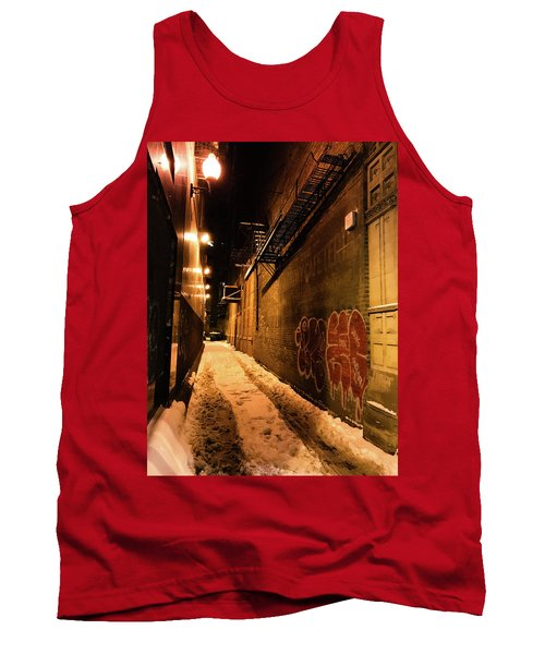 Chicago Alleyway At Night Tank Top