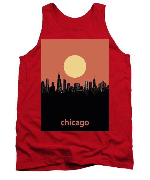 Chicago Skyline Minimalism 4 Tank Top