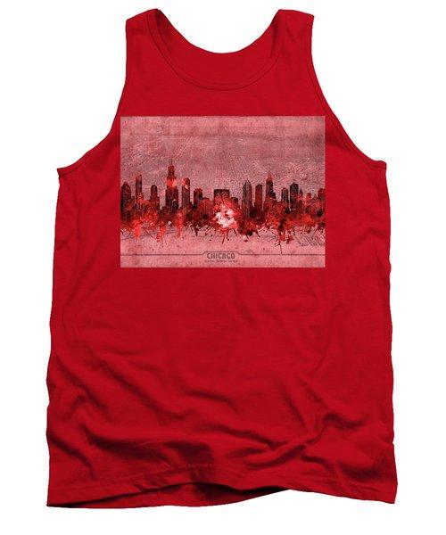 Chicago Skyline Vintage 3 Tank Top