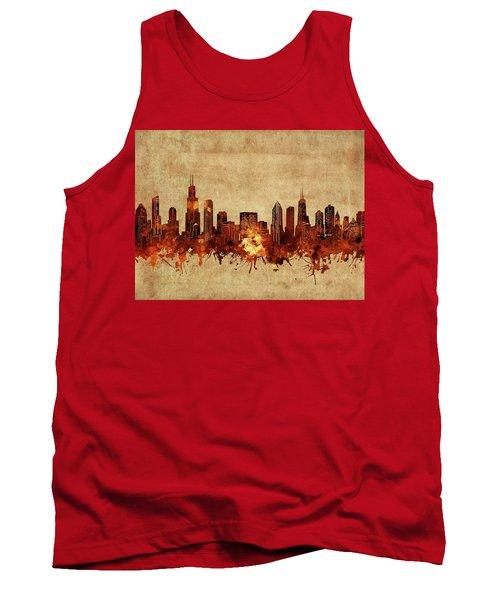 Chicago Skyline Vintage Tank Top