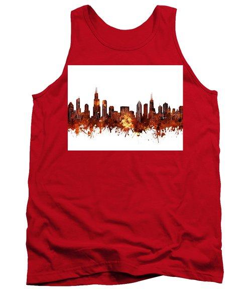 Chicago Skyline Watercolor 6 Tank Top
