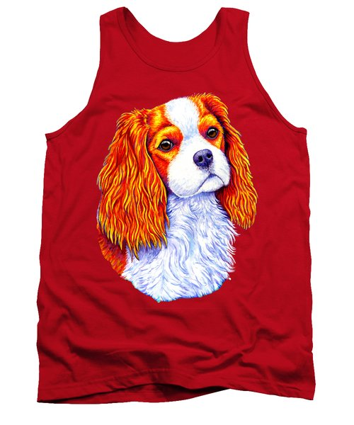 Colorful Cavalier King Charles Spaniel Dog Tank Top
