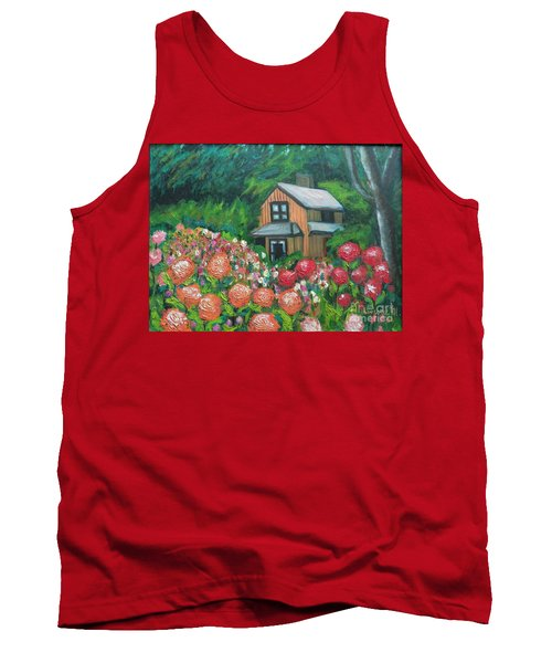 Dahlias In The Woods Tank Top