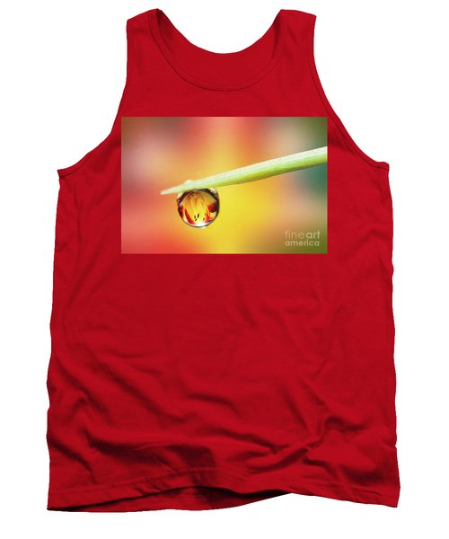 Daylily In A Droplet Tank Top