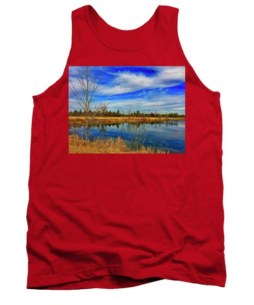 Tank Top featuring the photograph Depoorter Lake by Dan Miller
