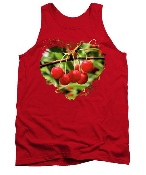 Door County Cherry Hanging Cherries Tank Top