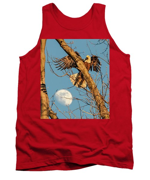 Eagle And Moon  Tank Top