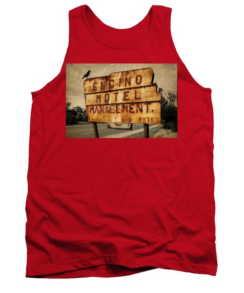 Tank Top featuring the photograph Encino Hotel by Lou Novick