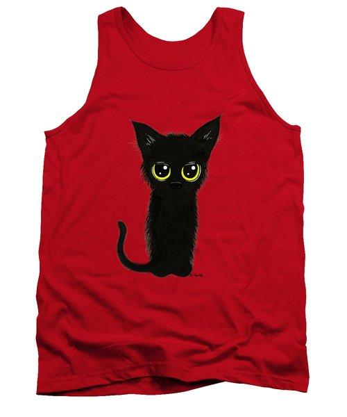 Enthralling Black Kitty Tank Top