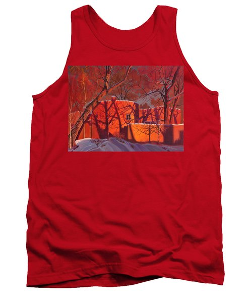 Evening Shadows On A Round Taos House Tank Top