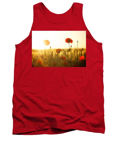 Field Of Poppies At Dawn Tank Top