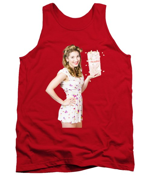 Film And Cinema Pin-up Lady Tank Top