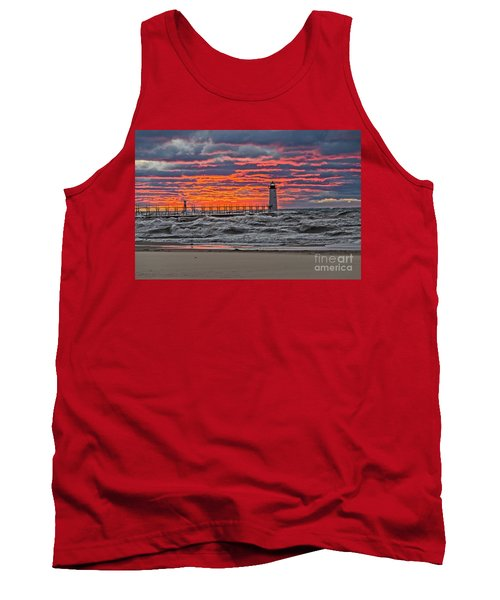 First Day Of Fall Sunset Tank Top