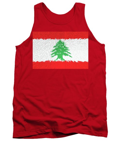 Flag Of Lebanon - Extruded Tank Top