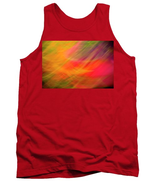 Flowers In Abstract Tank Top