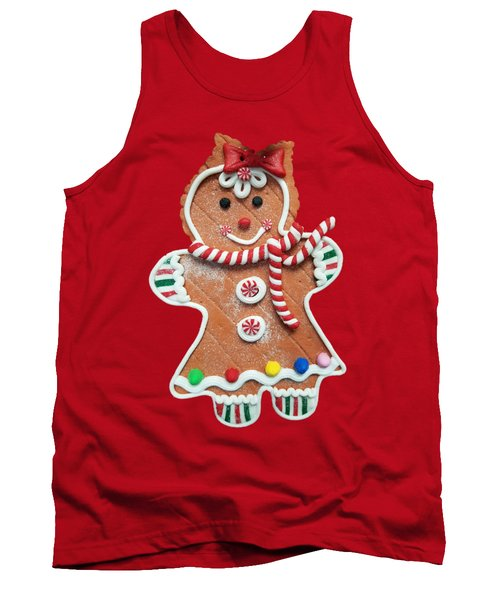 Gingerbread Cookie Girl Tank Top