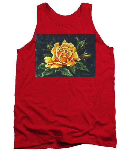 Golden Rose Sketch Tank Top