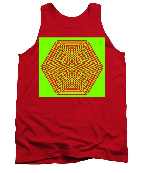 Green And Red Fusion  Tank Top