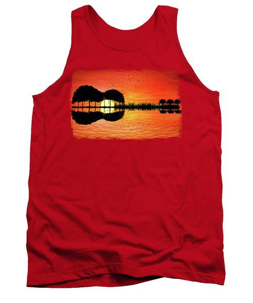 Guitar Island Sunset Tank Top