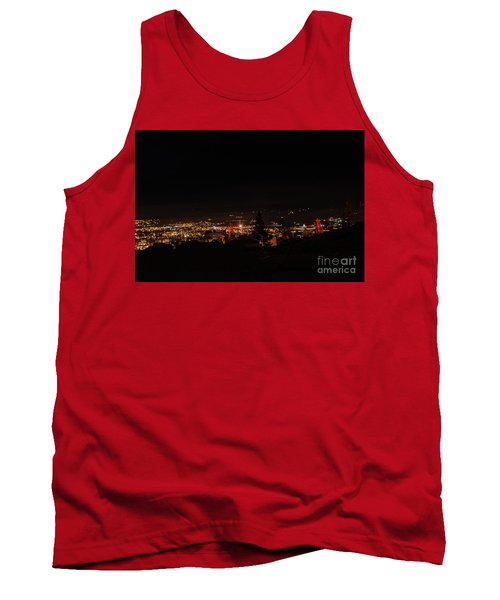 Headframes Outlined In Red Lights Tank Top