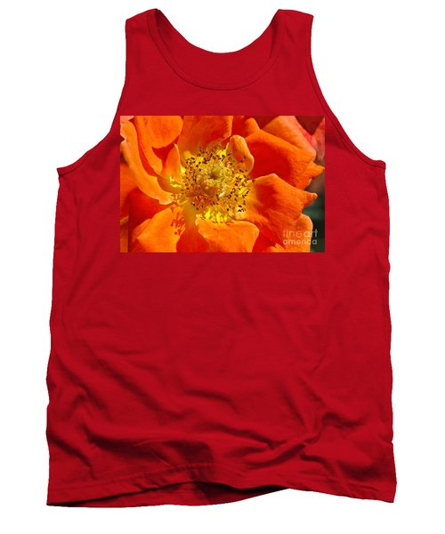 Heart Of The Orange Rose Tank Top