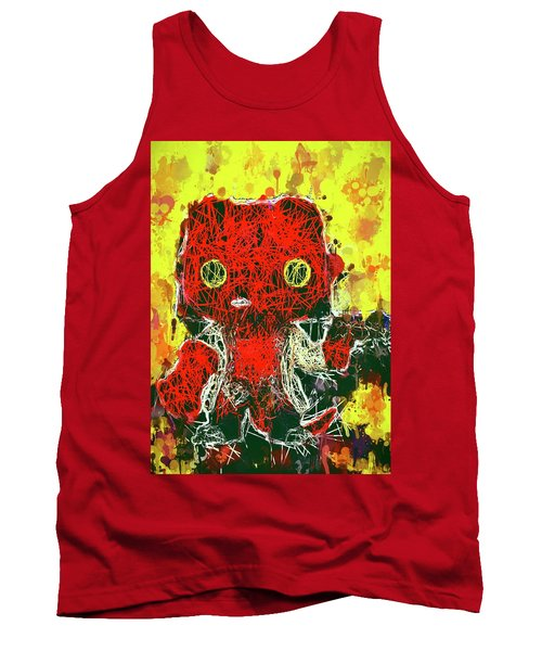 Tank Top featuring the mixed media Hellboy by Al Matra