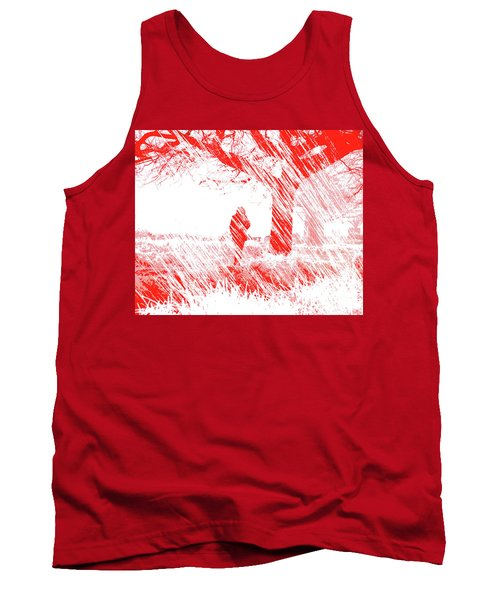 Icy Shards Fall On Setttled Snow Tank Top