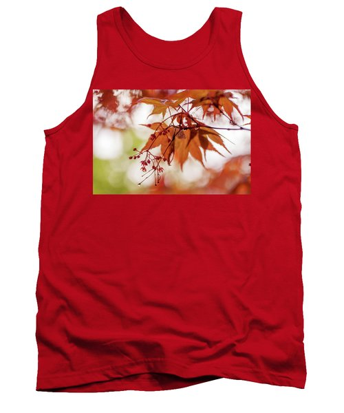 Imperfect Perfection. Red Maple Leaves Abstract 17 Tank Top