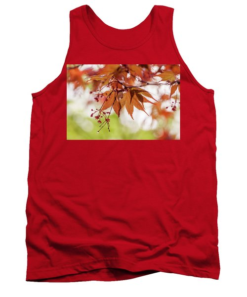 Imperfect Perfection. Red Maple Leaves Abstract 19 Tank Top